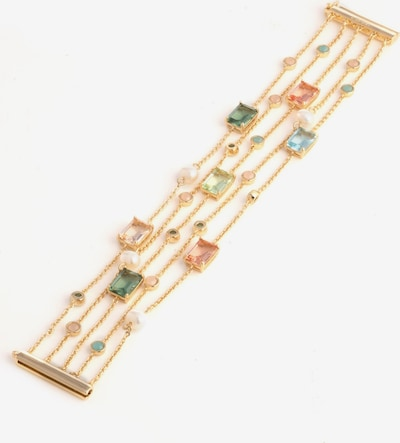 """Lauren Ralph Lauren Bracelet '7.25"""" Stone 5 Row Flex' en or / mélange de couleurs, Vue avec produit"""