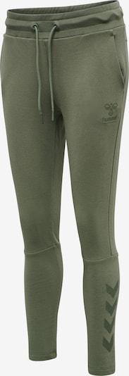 Hummel Pantalon de sport en olive, Vue avec produit