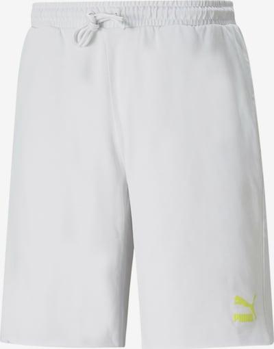 PUMA Shorts in neongelb / hellgrau, Produktansicht