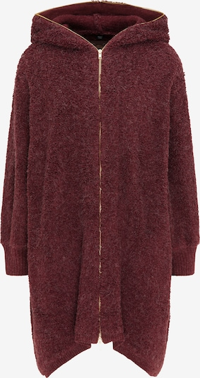 Cappotto in maglia taddy di colore rosso scuro, Visualizzazione prodotti