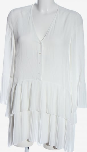 ZARA Langarmkleid in S in weiß, Produktansicht