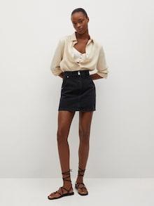 čierna rifľová sukňa 'MARION' od značky MANGO