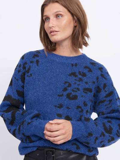 VILA Jersey 'ALIA' en azul real / negro, Vista del modelo