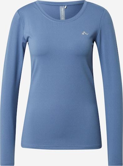 Tricou funcțional 'Clarissa' ONLY PLAY pe albastru fumuriu / alb, Vizualizare produs