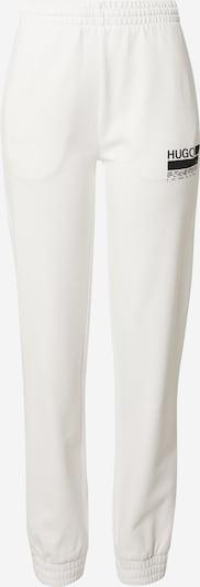 Pantaloni HUGO pe negru / alb, Vizualizare produs