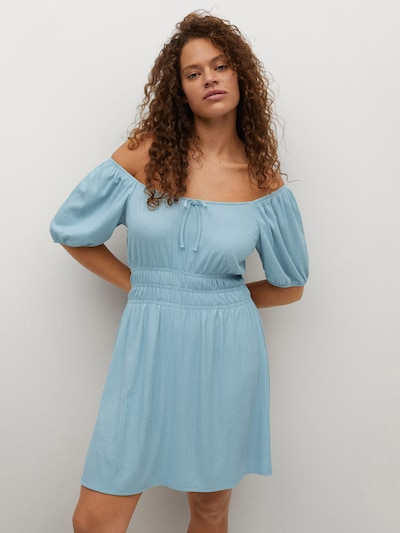 Rochie 'Amelie' VIOLETA by Mango pe albastru fumuriu, Vizualizare model