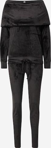 LingaDore Piżama w kolorze czarny
