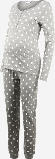 MAMALICIOUS Schlafanzug in grau / weiß, Produktansicht