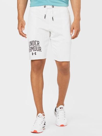 fekete / fehér UNDER ARMOUR Sportnadrágok 'Rival Terry', Modell nézet