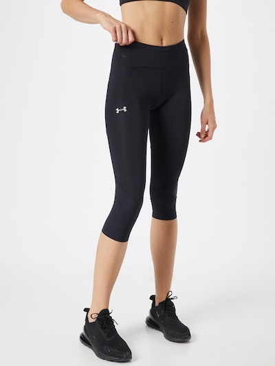 UNDER ARMOUR Workout Pants in Black / White, View model