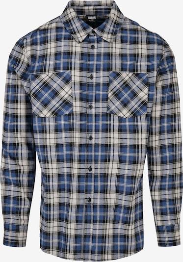 Urban Classics Hemd 'Roots' in dunkelblau / grau / schwarz, Produktansicht