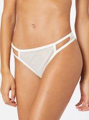 Lascana tangá v bielej farbe