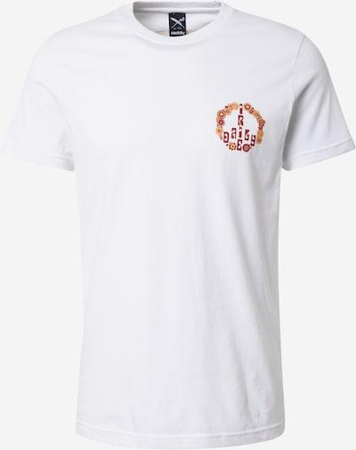 Iriedaily T-Shirt 'Peace Fellow' in ocker / burgunder / weiß, Produktansicht