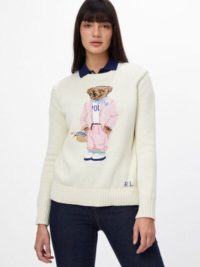 POLO RALPH LAUREN Sweter w kolorze jasny beż / mieszane kolorym, Podgląd na modelu(-ce)