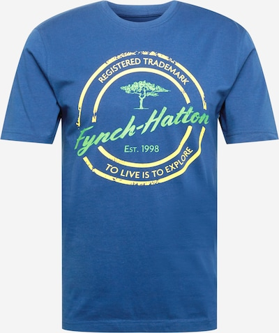 FYNCH-HATTON T-Shirt in himmelblau / gelb / hellgrün, Produktansicht