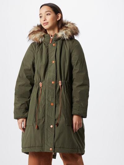 VILA Manteau d'hiver 'Flavia' en beige / vert foncé, Vue avec modèle