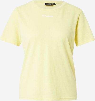Hummel Toiminnallinen paita 'Zandra' värissä vaaleankeltainen / valkoinen, Tuotenäkymä