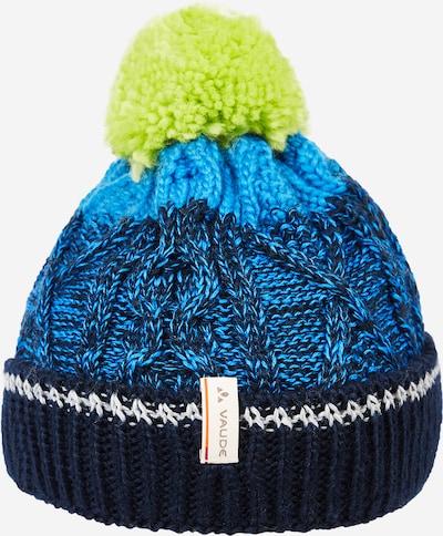 VAUDE Mütze 'Cornua' in blau / dunkelblau / neongrün / weiß, Produktansicht