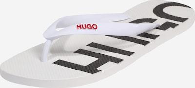 HUGO Sandalias de dedo en rojo / blanco, Vista del producto