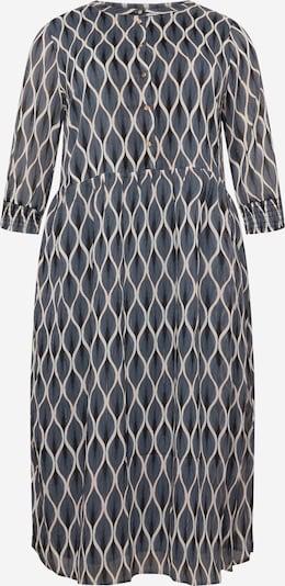 KAFFE CURVE Košilové šaty 'Smilla' - chladná modrá / černá / bílá, Produkt