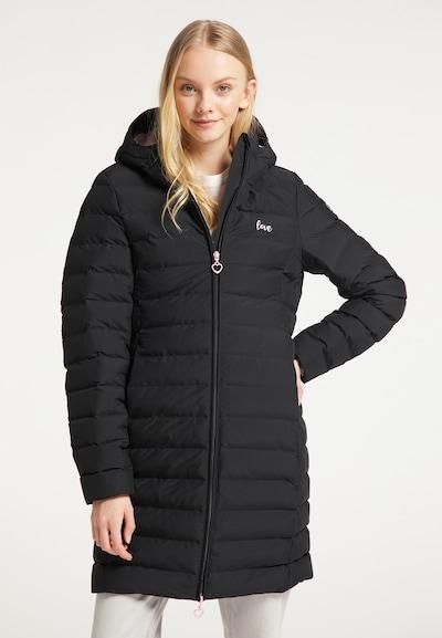 MYMO Wintermantel in de kleur Lichtroze / Zwart, Modelweergave