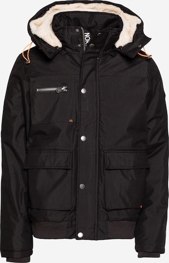 Hailys Men Zimska jakna 'Halo' u crna / vuneno bijela, Pregled proizvoda