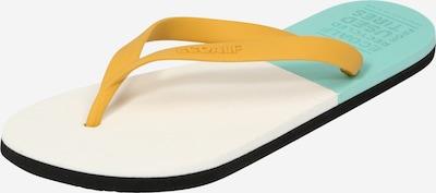 ECOALF Сандали с разделител за пръстите в жълто / нефритено зелено / мръсно бяло, Преглед на продукта