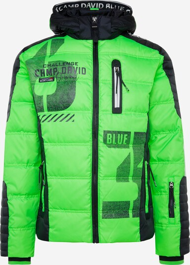 CAMP DAVID Zimska jakna | zelena / mešane barve barva, Prikaz izdelka