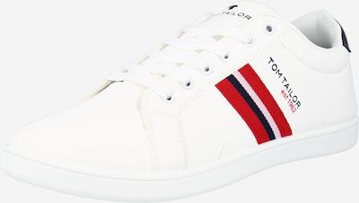 TOM TAILOR Nizke superge | rdeča / črna / bela barva, Prikaz izdelka