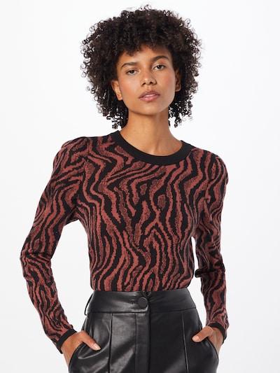 JDY Pullover 'TYGA' in pastellrot / schwarz, Modelansicht
