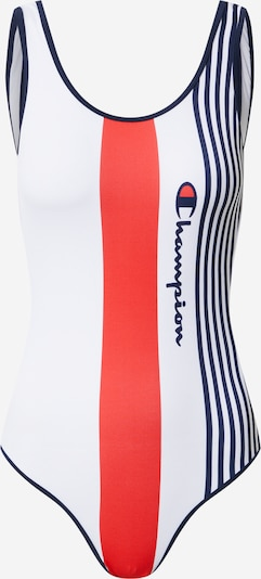 Champion Authentic Athletic Apparel Maillot de bain en bleu marine / rouge clair / blanc, Vue avec produit