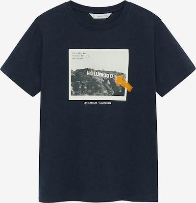 MANGO KIDS Majica u mornarsko plava / tamo žuta / siva / tamo siva: Prednji pogled