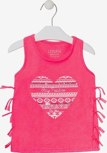 LOSAN Top in pink / weiß, Produktansicht