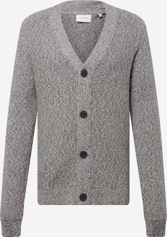 Lindbergh Knit cardigan 'Button' in Grey