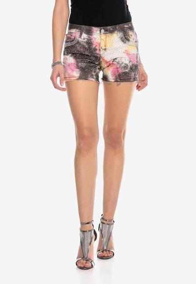 CIPO & BAXX Shorts in gelb / grau / pink, Modelansicht