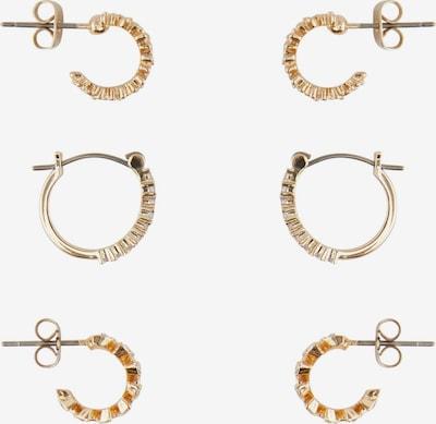 PIECES Boucles d'oreilles 'Nija' en or / transparent, Vue avec produit
