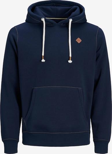 JACK & JONES Sweatshirt 'JORTONS' in de kleur Donkerblauw / Bruin, Productweergave