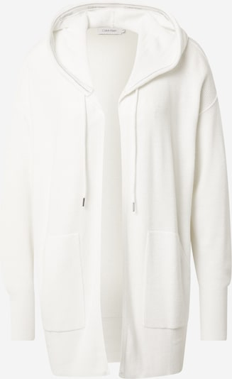 Calvin Klein Knit Cardigan in White, Item view