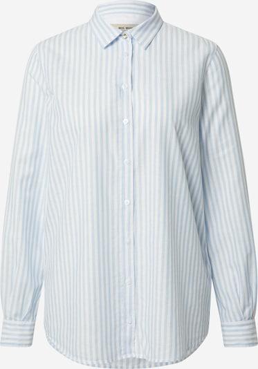 MOS MOSH Blouse 'Karli' in de kleur Lichtblauw / Wit, Productweergave