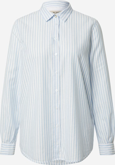 MOS MOSH Bluse 'Karli' i lyseblå / hvid, Produktvisning
