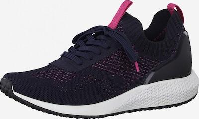 Tamaris Fashletics Sneakers laag in de kleur Navy / Magenta, Productweergave