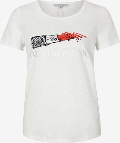Ci comma casual identity T-Shirt in rot / schwarz / weiß, Produktansicht