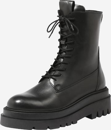 juoda ABOUT YOU Suvarstomieji kulkšnis dengiantys batai 'Tarja'