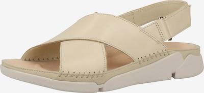 CLARKS Sandale in hellbeige: Frontalansicht