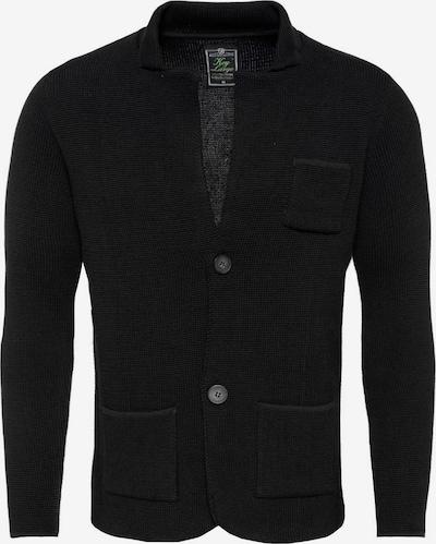 Key Largo Strickjacke 'MARCEL' in schwarz, Produktansicht