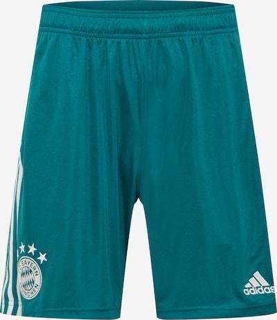 ADIDAS PERFORMANCE Spodnie sportowe w kolorze jodła / białym, Podgląd produktu