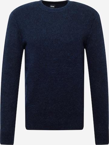 BOSS Casual Pullover 'Aketch' in Blau