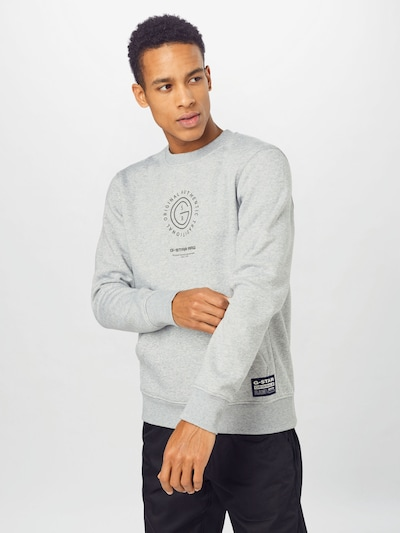 G-Star RAW Sweatshirt in Anthracite / Grey mottled: Frontal view