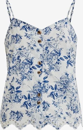 VILA Top 'Camelina' in blau / weiß, Produktansicht