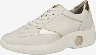 PETER KAISER Sneaker in gold / weiß: Frontalansicht